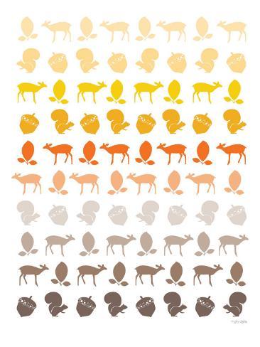 Orange Forest Reproduction d'art