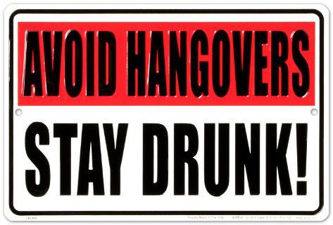 Avoid Hangovers Plaque en métal