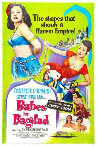Babes in Bagdad Reproduction d'art