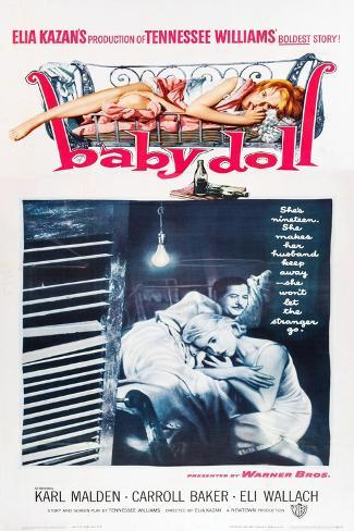 Baby Doll, Eli Wallach, Carroll Baker, 1956 Reproduction d'art