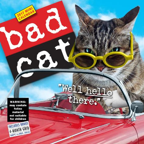 Bad Cat - 2017 Mini Wall Calendar Calendriers