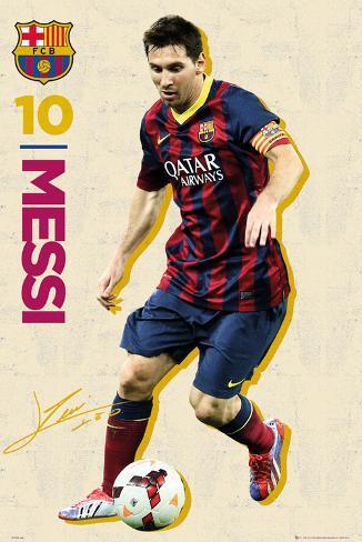 Barcelona - Messi Vintage 13/14 Poster