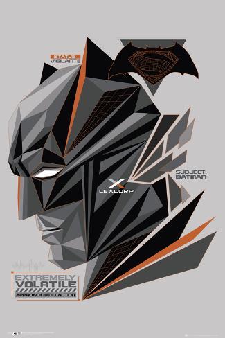 Batman Vs. Superman- Fractal Bat Head Poster