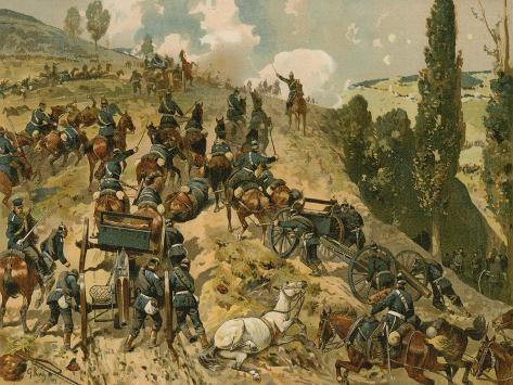 Battle of Spicheren, Franco-Prussian War, 6 August 1870 Reproduction procédé giclée