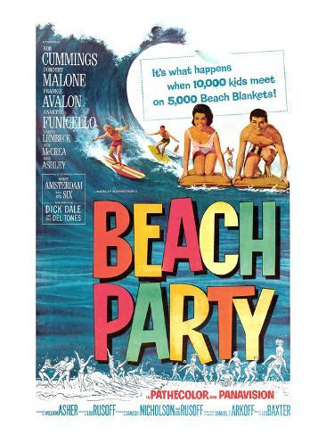 Beach Party, Annette Funicello, Frankie Avalon, 1963 Photographie