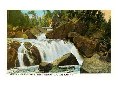 Beaver River, Lac Supérieur, Minnesota Reproduction d'art