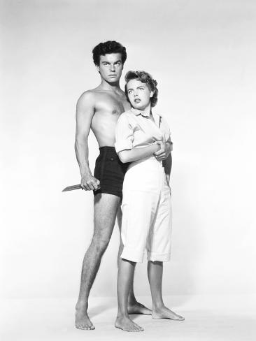 Beneath the 12-Mile Reef, Robert Wagner, Terry Moore, 1953 Photographie