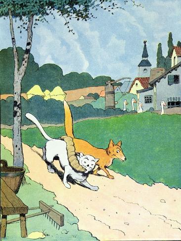 Illustration from 'Le Roman de Renard', c.1900 Reproduction procédé giclée