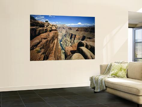 Toroweap Overlook a Panorama of the Canyon From Rim To River, Grand Canyon National Park, AZ Poster géant