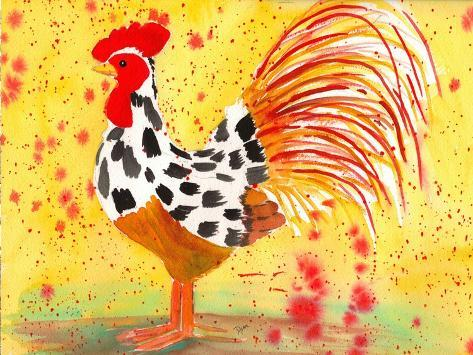 Farm House Rooster IV Reproduction d'art