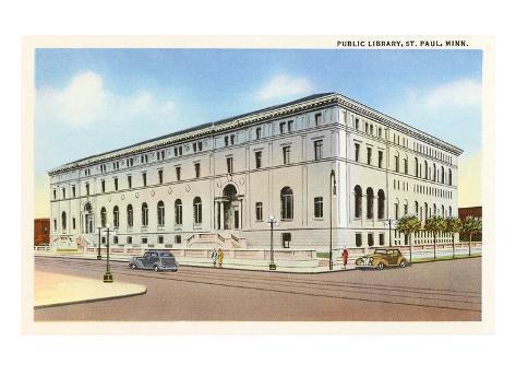 Bibliothèque municipale, Saint- Paul, Minnesota Reproduction d'art