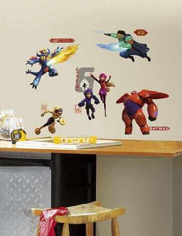 Big Hero 6 Peel and Stick Wall Decals Autocollant mural