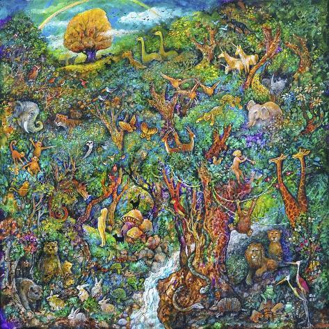 Jardin d'Eden Reproduction procédé giclée