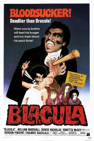 Blacula, US poster, William Marshall, 1972 Reproduction giclée Premium
