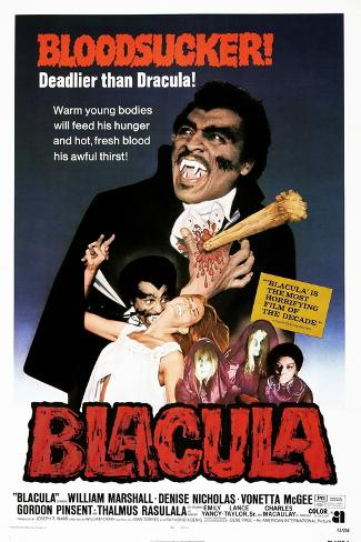Blacula, US poster, William Marshall, 1972 Reproduction d'art