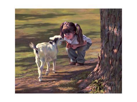 Goat Whisperer Reproduction procédé giclée