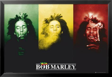 Bob Marley Poster en laminé encadré