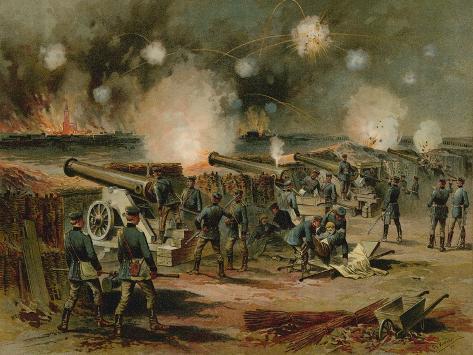Bombardment of Strasbourg, Franco-Prussian War, 1870 Reproduction procédé giclée
