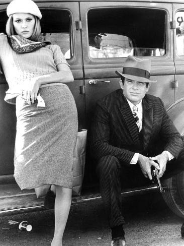 Bonnie and Clyde, Faye Dunaway, Warren Beatty, 1967 Photographie