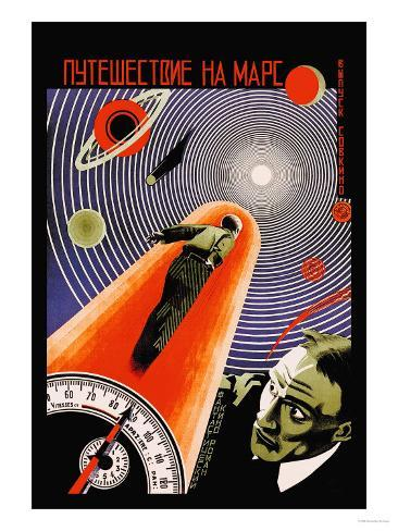 Journey to Mars Reproduction d'art