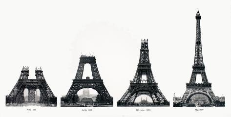 La Construction de la Tour Eiffel Reproduction pour collectionneur
