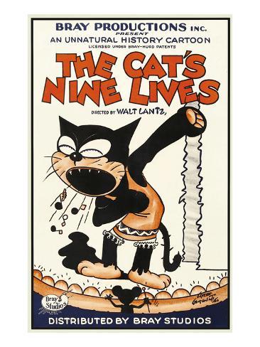 The Cat's Nine Lives Reproduction d'art