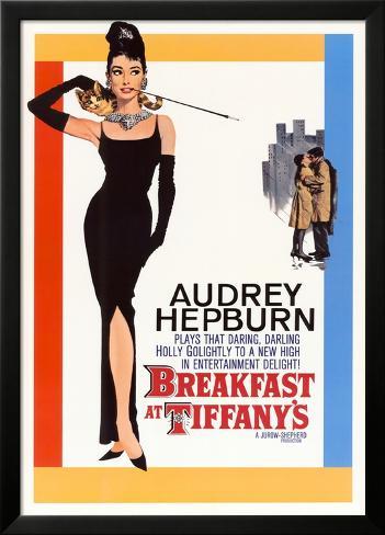 Breakfast at Tiffany's, Diamants sur canapé Poster en laminé encadré