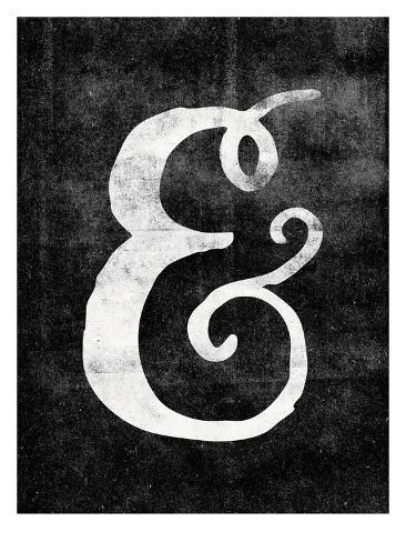 Ampersand Paint Swirl Blk Reproduction procédé giclée