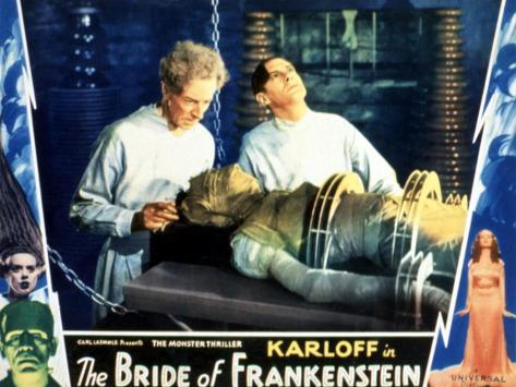 Bride of Frankenstein, Ernest Thesiger, Elsa Lanchester, Colin Clive, 1935 Photographie