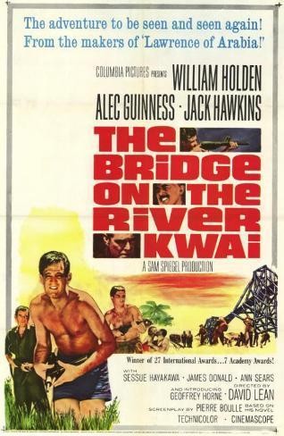 Bridge on the River Kwai Affiche originale
