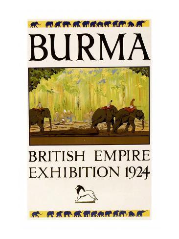 British Empire Exhibition - Burma Reproduction giclée Premium