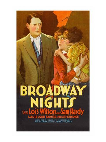 Broadway Nights Reproduction d'art