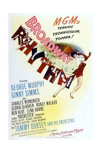 Broadway Rhythm Reproduction procédé giclée