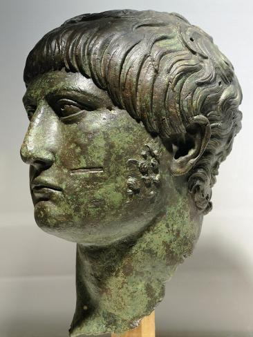 Bronze Head of a Young Man from the Trajan Period, from Bonomia, Near Vidin, Bulgaria Reproduction procédé giclée