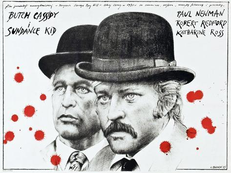 Butch Cassidy and the Sundance Kid, 1969 Reproduction d'art