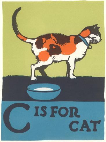 C is for Cat Reproduction d'art