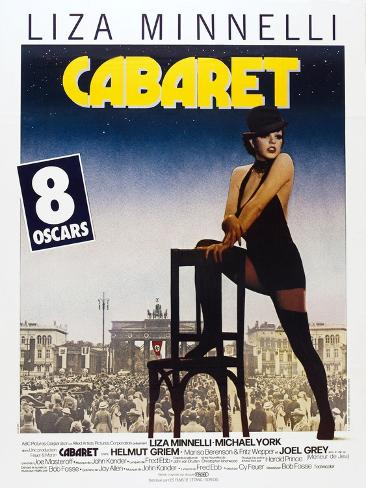 Cabaret, French poster, Liza Minnelli, 1972 Reproduction d'art