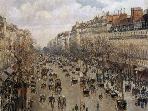 Boulevard Montmartre in Paris, 1897 Reproduction procédé giclée