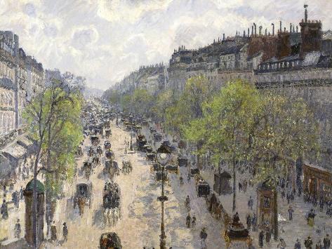 Boulevard Montmartre, Spring, 1897 Reproduction procédé giclée