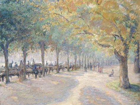 Hyde Park, London, 1890 Reproduction procédé giclée