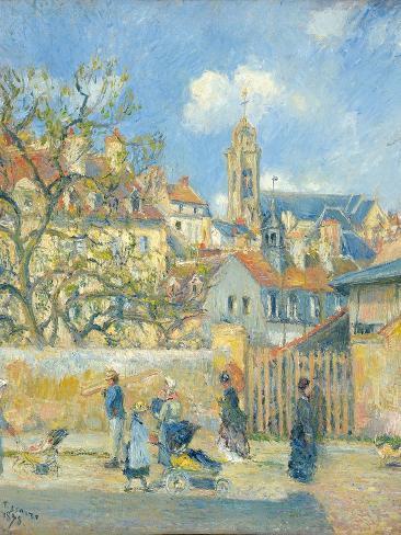 Le Parc Aux Charrettes, Pontoise, 1878 Reproduction procédé giclée