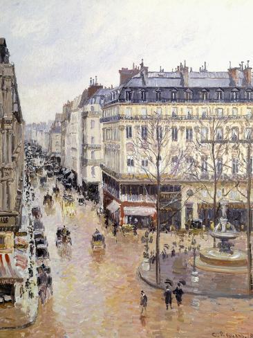 Rue Saint Honore, Afternoon, Rain Effect Reproduction procédé giclée
