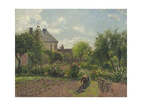 The Artist's Garden at Eragny, 1898 Reproduction procédé giclée