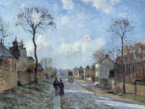 The Road to Louveciennes, 1872 Reproduction procédé giclée