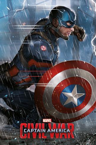 Captain America Civil War- Captain America Poster
