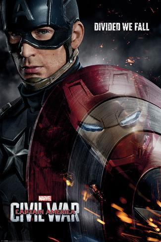 Captain America Civil War- Divided We Fall Poster