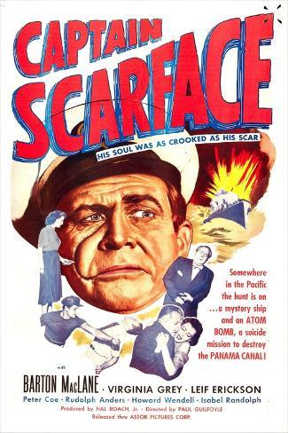Captain Scarface Reproduction d'art