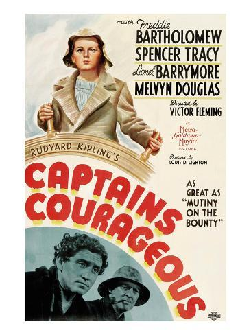 Captains Courageous, Freddie Bartholomew, Spencer Tracy, Lionel Barrymore, 1937 Photographie