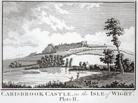 Carisbrook Castle, in the Isle of Wight Reproduction procédé giclée