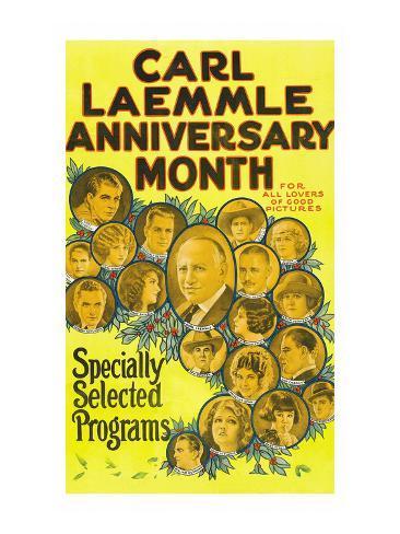 Carl Laemmle Anniversary Month Reproduction d'art